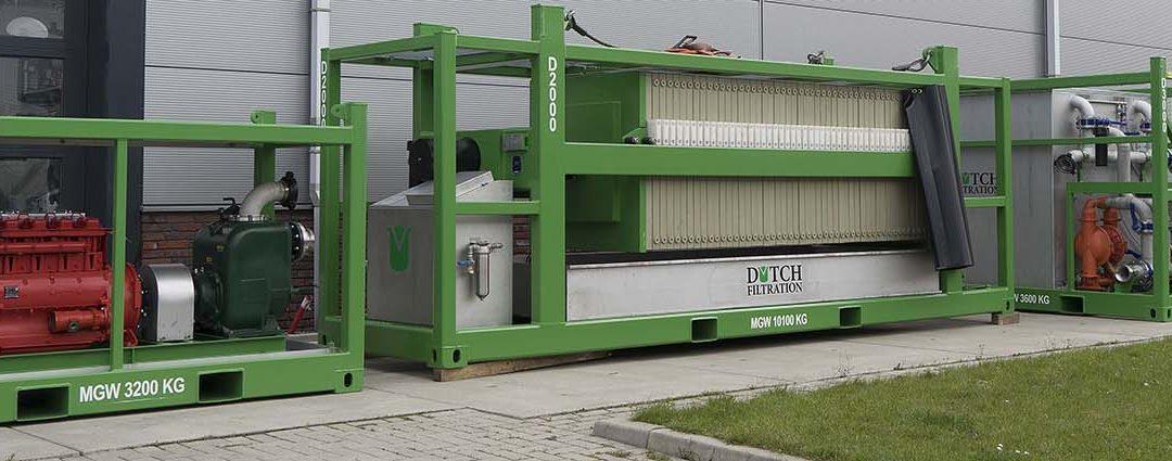 Verhuur Filtratieapparatuur voor piekproductie of korte termijn opdrachten