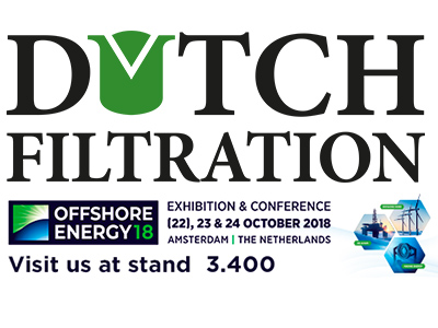 Dutch Filtration will attend Offshore Energy 2018